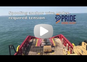 AHTS. Anchor handling operation